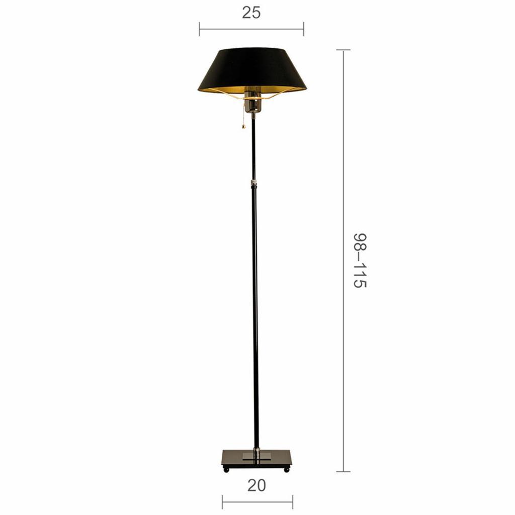 Produktové foto Menzel Menzel Antos AF6125 stojací lampa, stínidlo černé