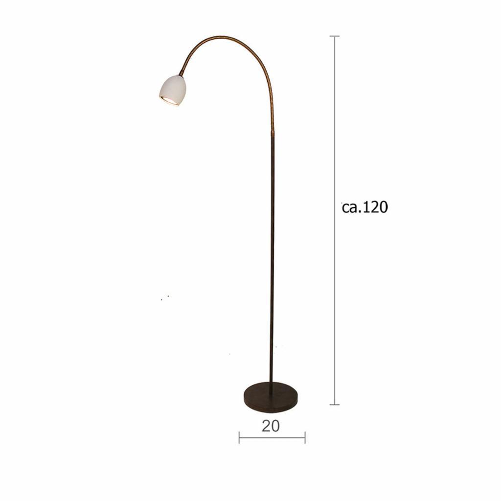 Produktové foto Menzel Menzel Provence matt stojací lampa 1 zdroj rameno