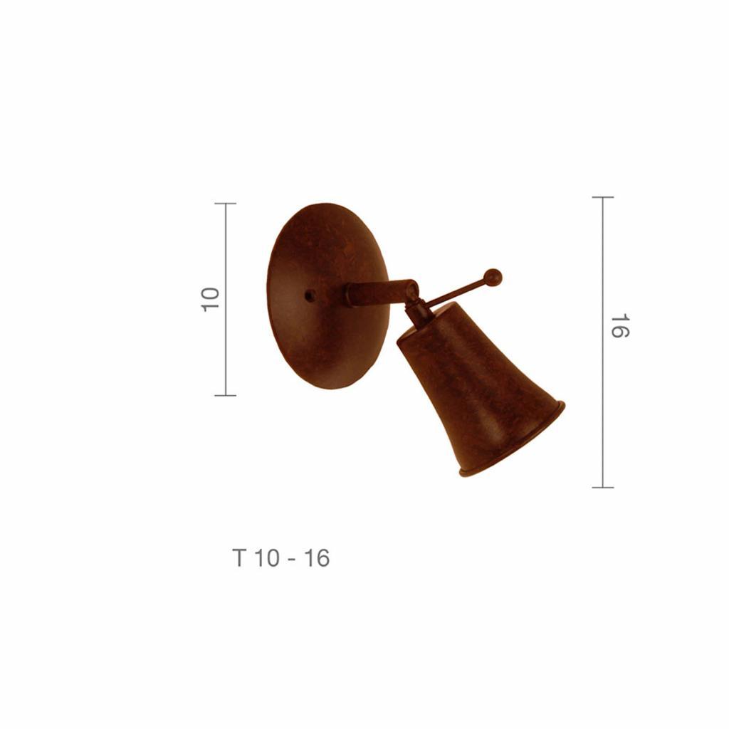 Produktové foto Menzel Menzel Pusta nástěnný reflektor 1zdroj, hnědočerná