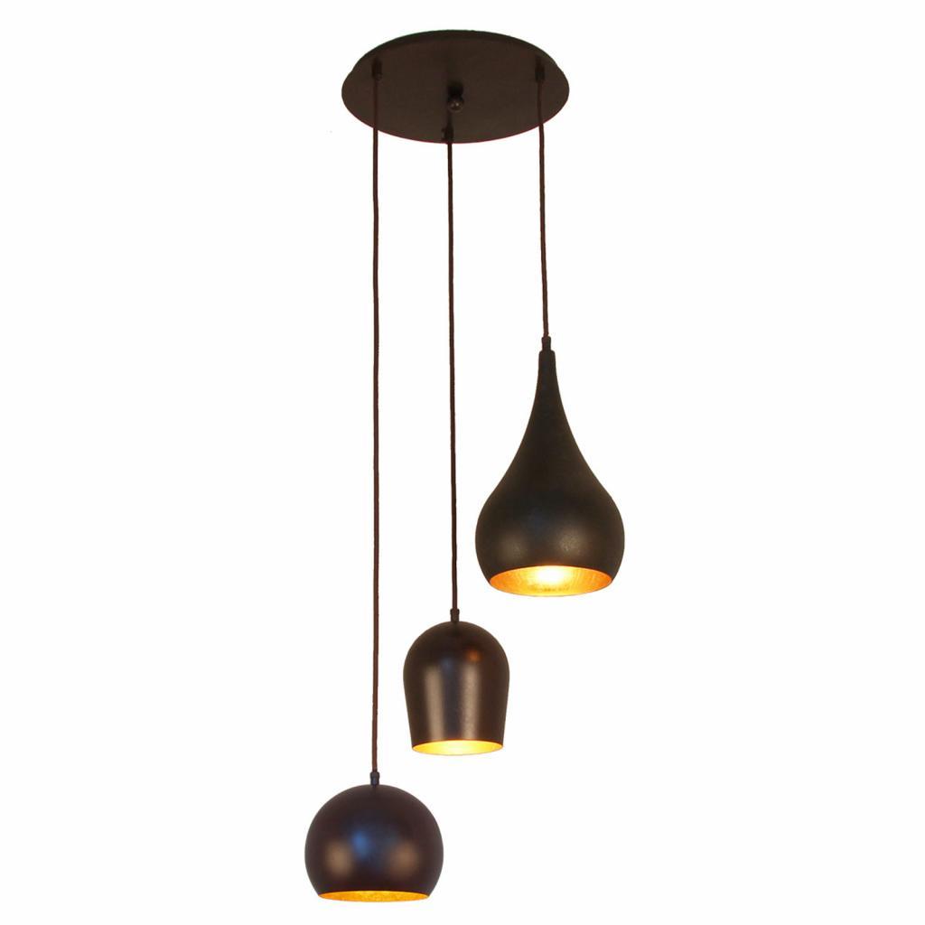 Produktové foto Menzel Menzel Solo závěsné světlo, tři zdroje kulaté