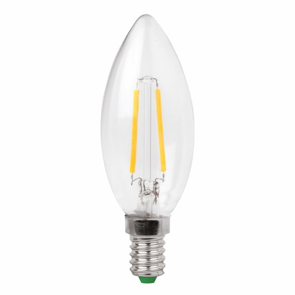 Produktové foto Megaman LED žárovka-svíčka E14 3W Filament čirá teplá bílá