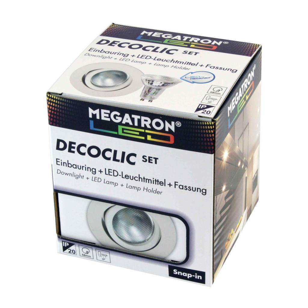 Produktové foto MEGATRON LED spot Decoclic Set GU10 4,5 W, bílá