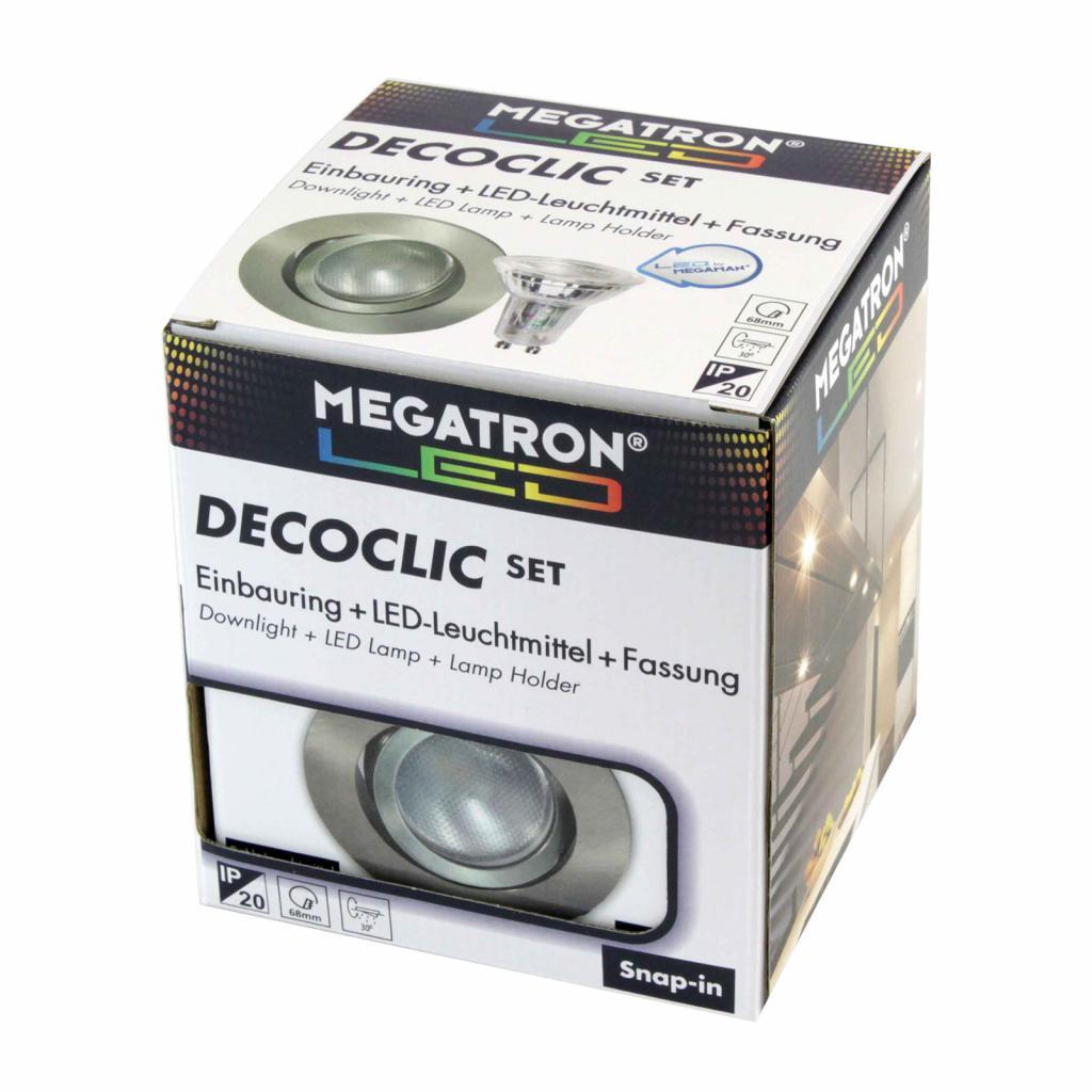 Produktové foto MEGATRON LED spot Decoclic Set GU10 4,5 W, železo