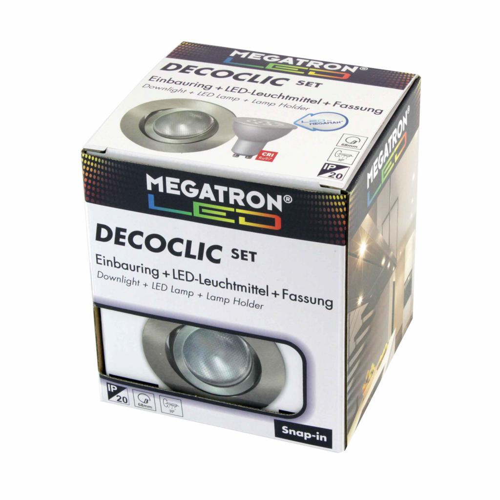 Produktové foto MEGATRON LED spot Decoclic Set s GU10 6 W, železo