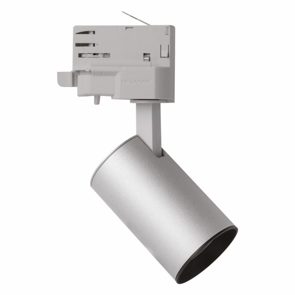 Produktové foto Megaman LED spot MarcoMini 3fázová kolejnice stříbro 4000K