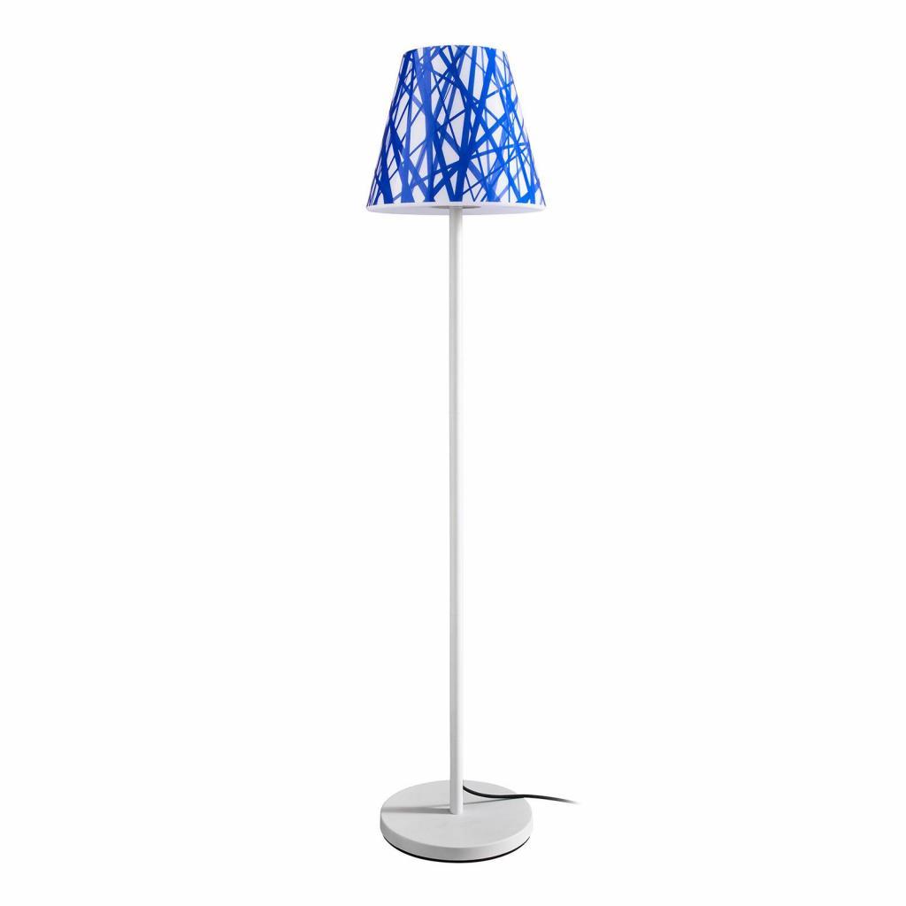 Produktové foto Moree Stojací lampa Swap Outdoor, blue lines stínidlo