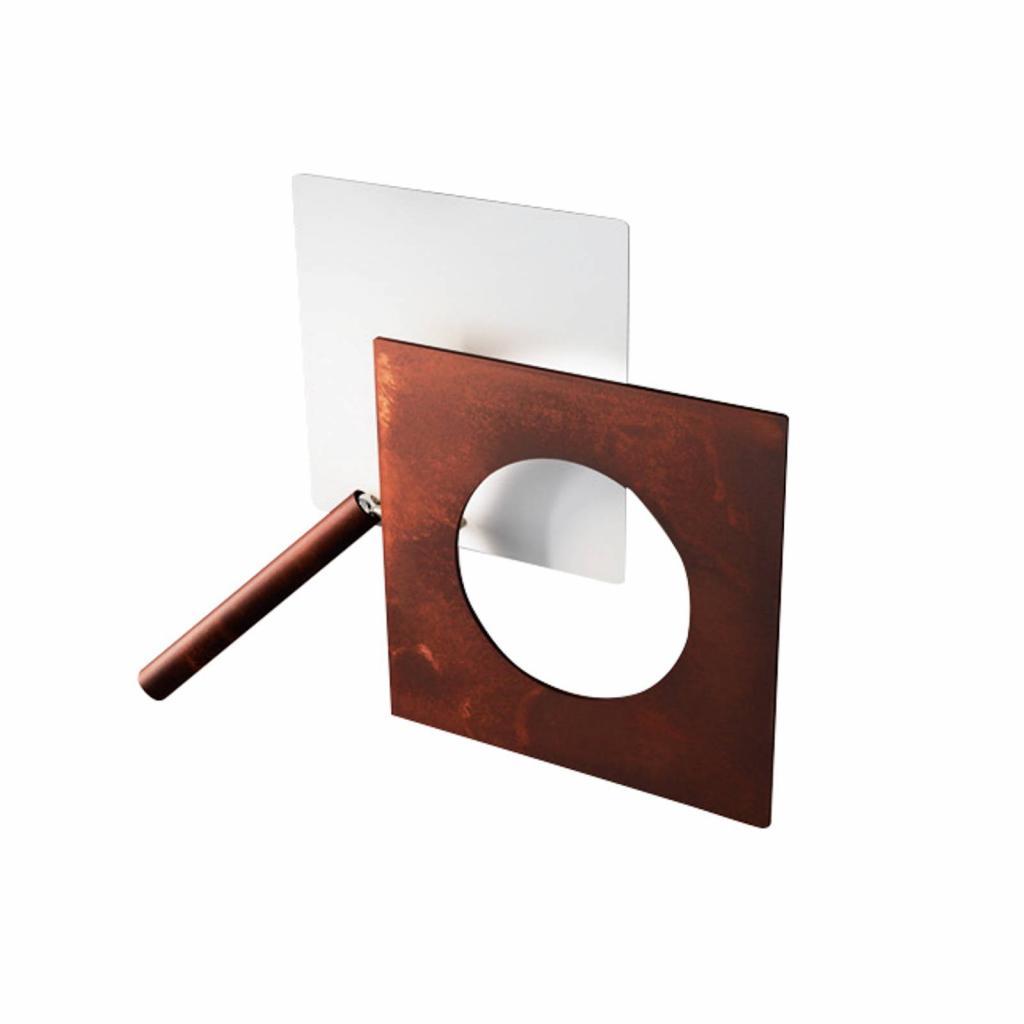 Produktové foto ICONE ICONE LED nástěnné světlo Petra 21.L, bílá, rezavá