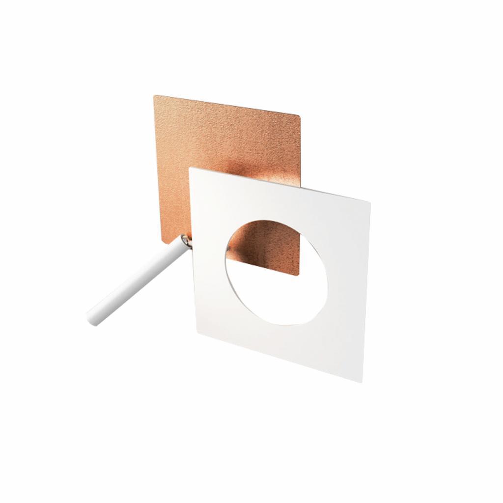 Produktové foto ICONE ICONE LED nástěnné světlo Petra 21.L, měď, bílá