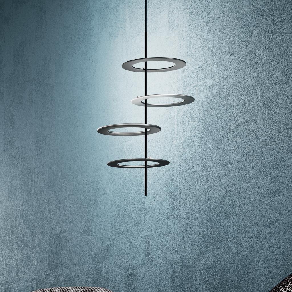 Produktové foto ICONE ICONE LED závěsné světlo Hula Hoop S4 - 4 desky