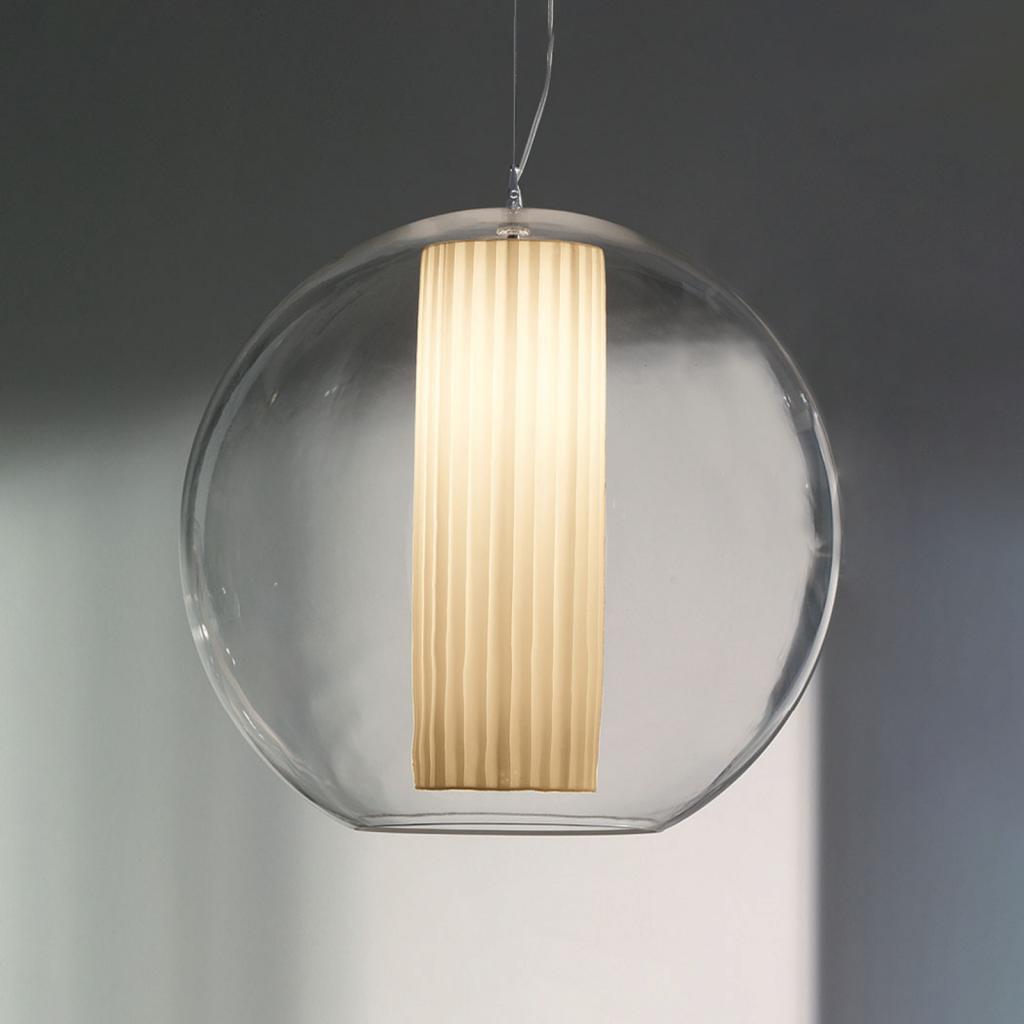 Produktové foto MODO LUCE Modo Luce Bolla závěsné světlo tkanina bílá Ø 50cm