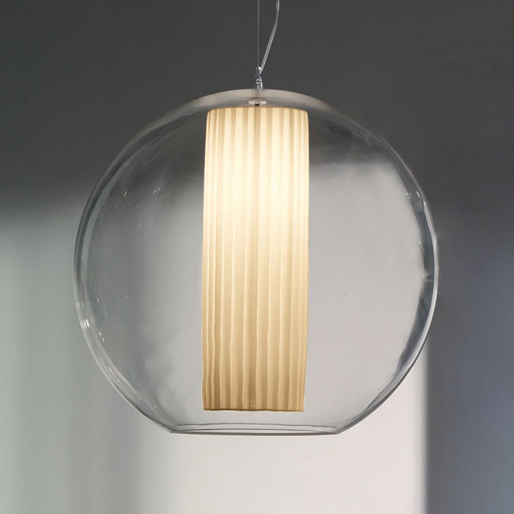Produktové foto MODO LUCE Modo Luce Bolla závěsné světlo tkanina bílá Ø 60cm