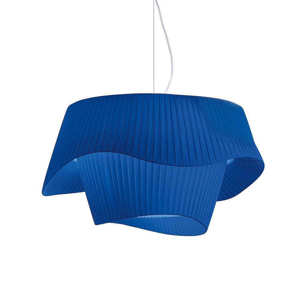 Produktové foto MODO LUCE Modo Luce Cocó textilní závěsné světlo Ø60cm modrá