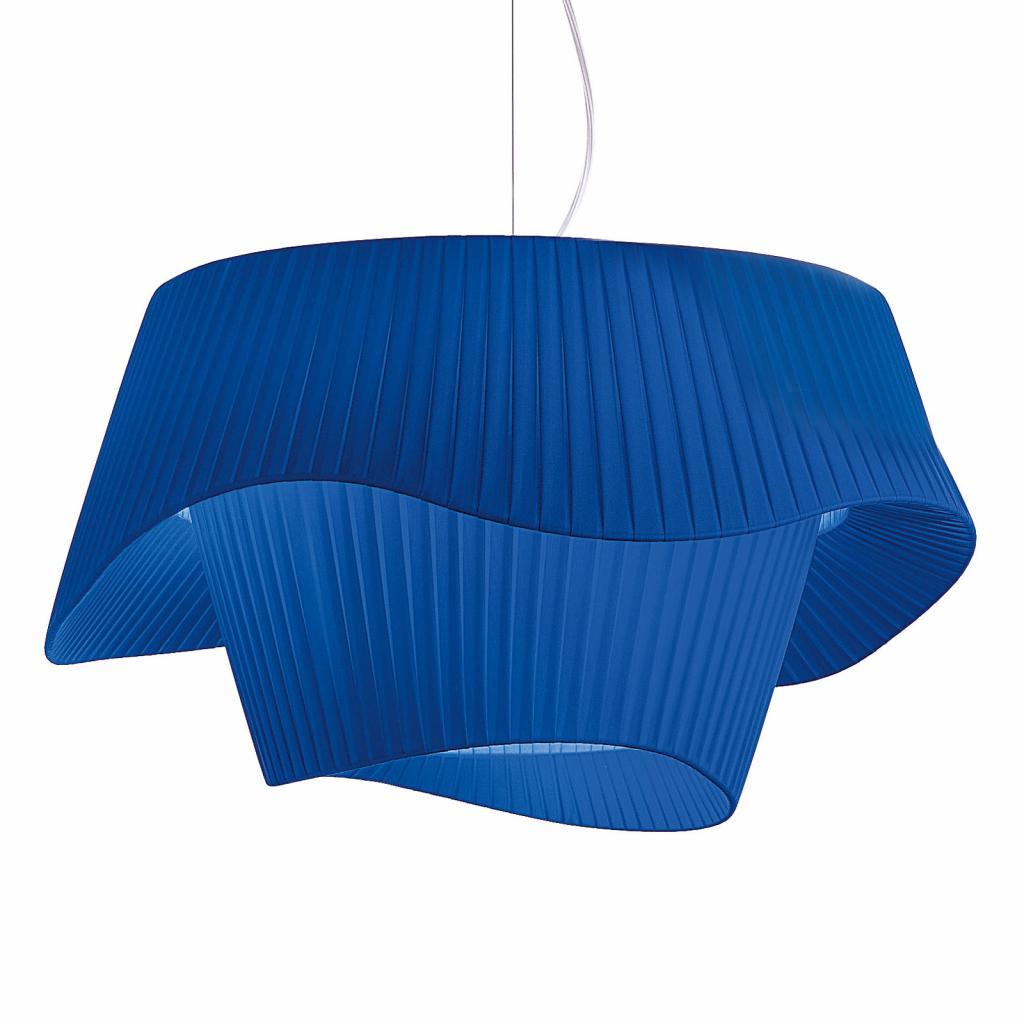 Produktové foto MODO LUCE Modo Luce Cocó textilní závěsné světlo Ø80cm modrá