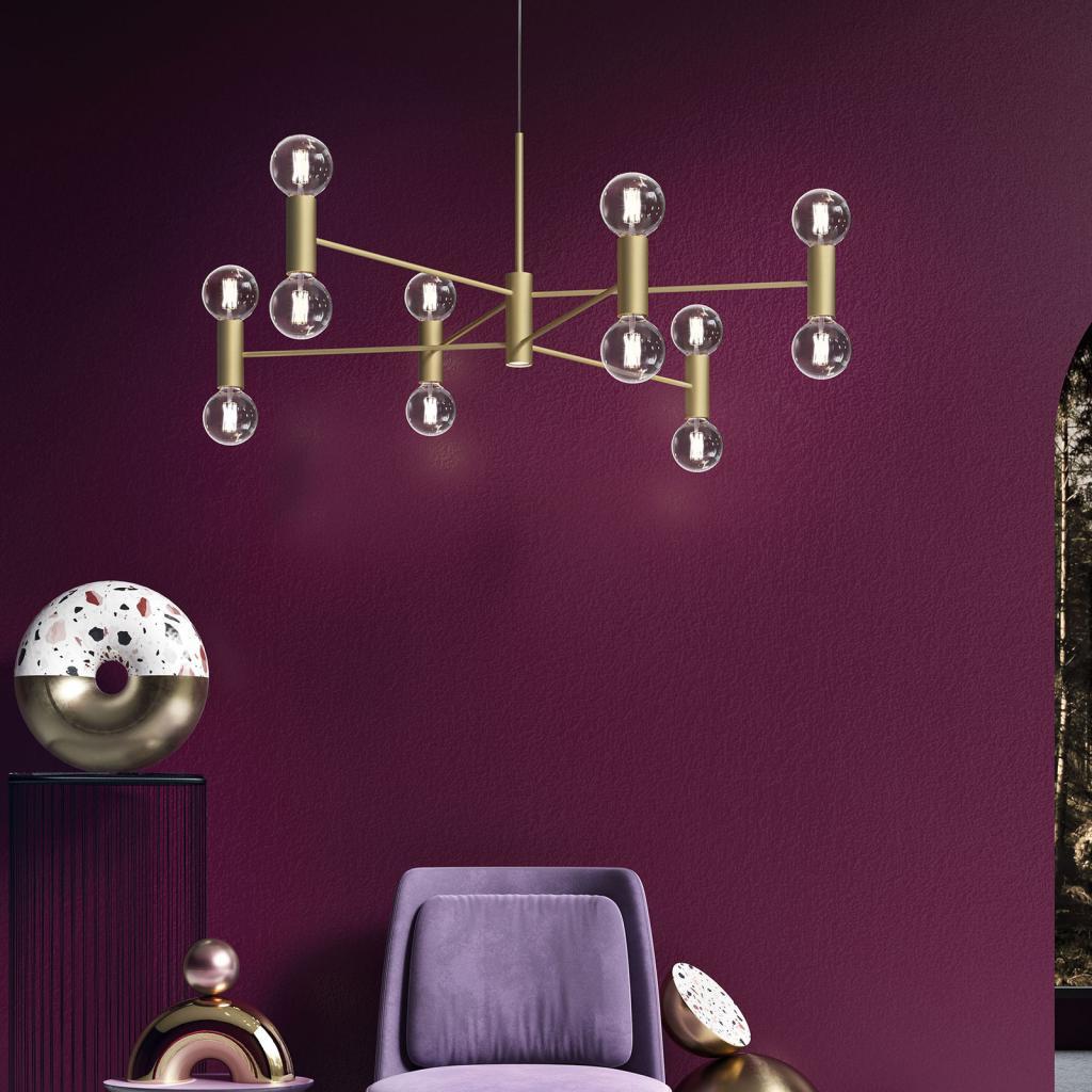 Produktové foto MODO LUCE Modo Luce Chandelier závěsné světlo 13 107cm zlatá