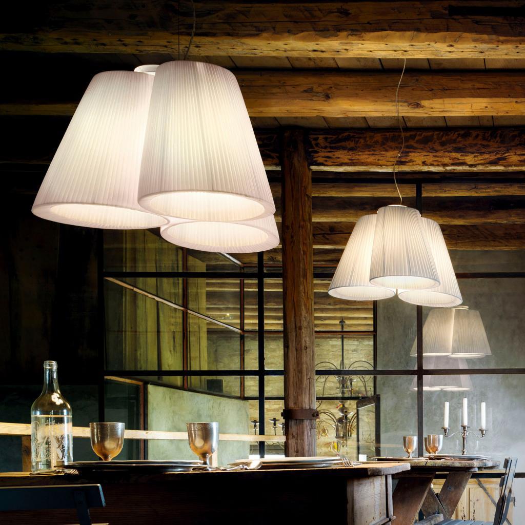 Produktové foto MODO LUCE Modo Luce Florinda závěsné světlo 3 plissé bílá