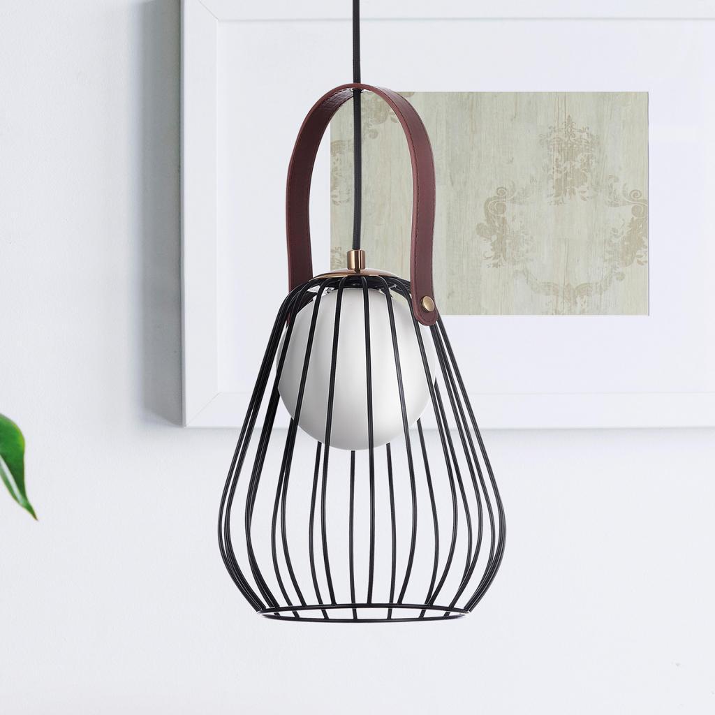 Produktové foto Maytoni Závěsné světlo Indiana s klecovým stínidlem, černá