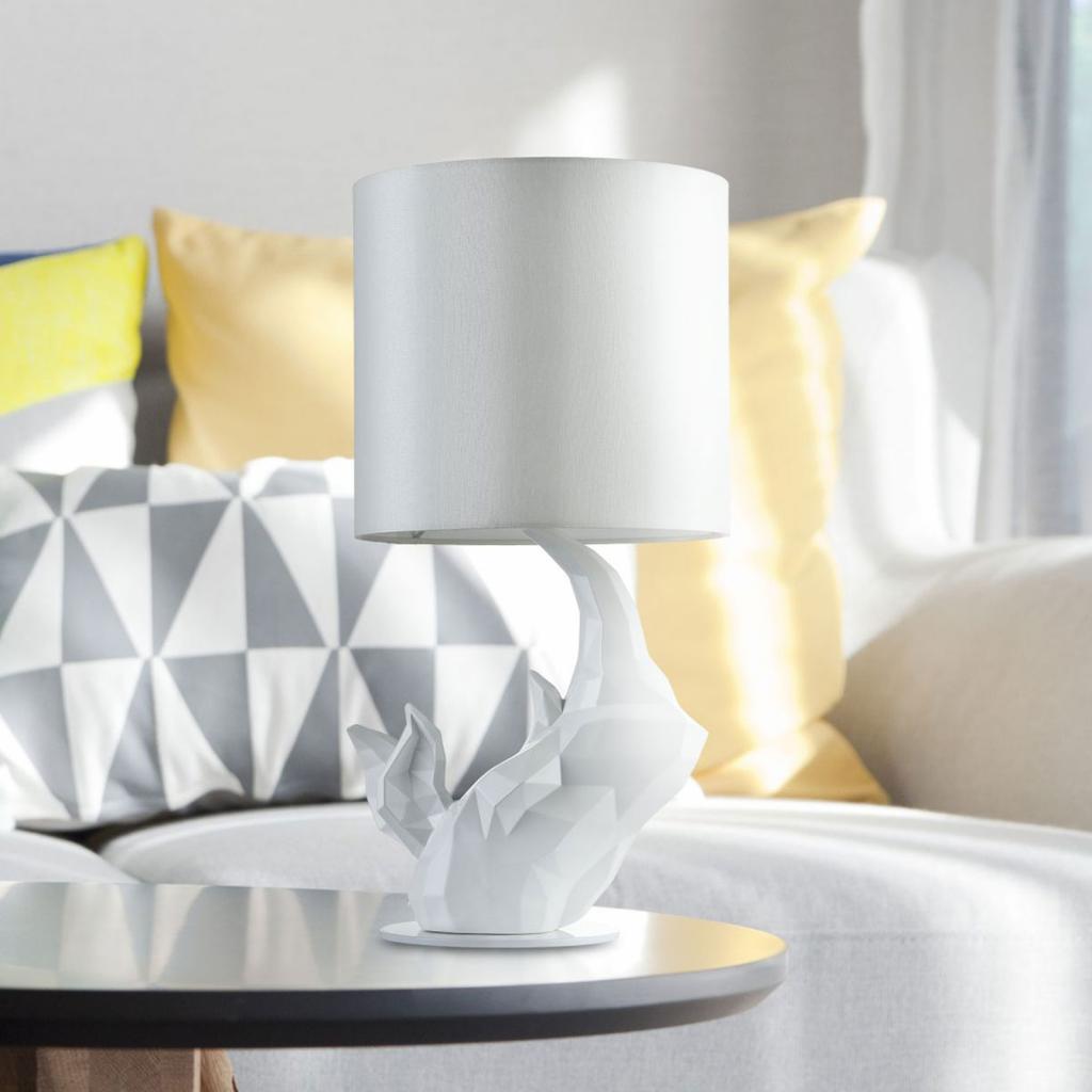Produktové foto Maytoni Stolní lampa nosorožec, bílá