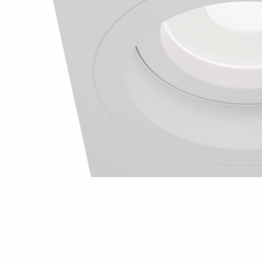 Produktové foto Maytoni Zapuštěné světlo Akron, nastavitelné hranaté, bílá