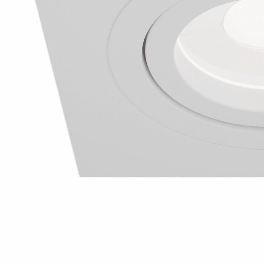 Produktové foto Maytoni Podhledové světlo Atom, GU10, bílé, hranatý rám