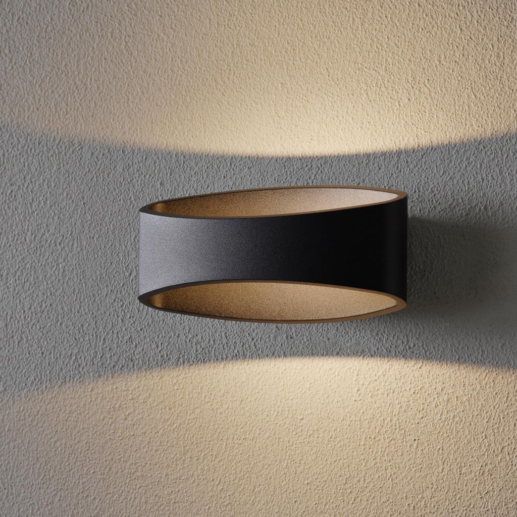 Produktové foto Maytoni LED nástěnné světlo Trame, oválný tvar v černé