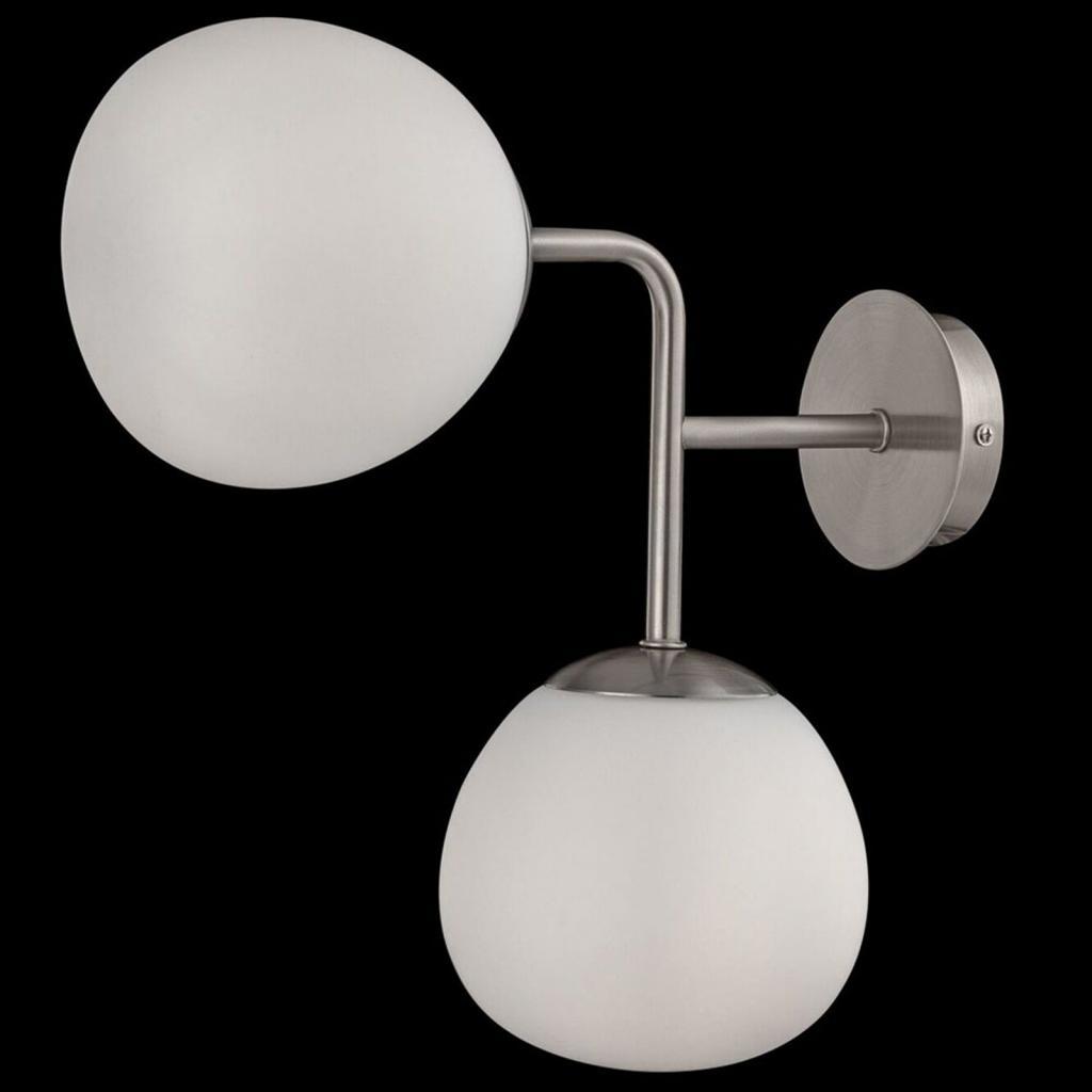 Produktové foto Maytoni Nástěnné světlo Erich v niklu se dvěma stínidly