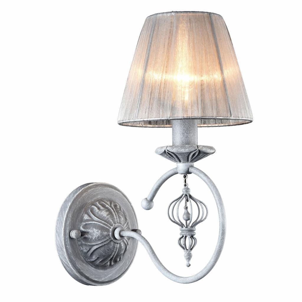 Produktové foto Maytoni Nástěnné světlo Monsoon s šedým stínidlem, organza