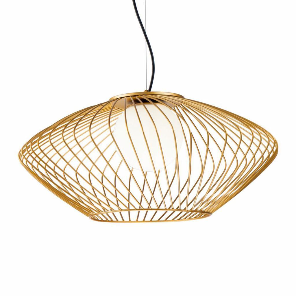 Produktové foto Maytoni Závěsné světlo Plec s klecovým stínidlem ve zlaté