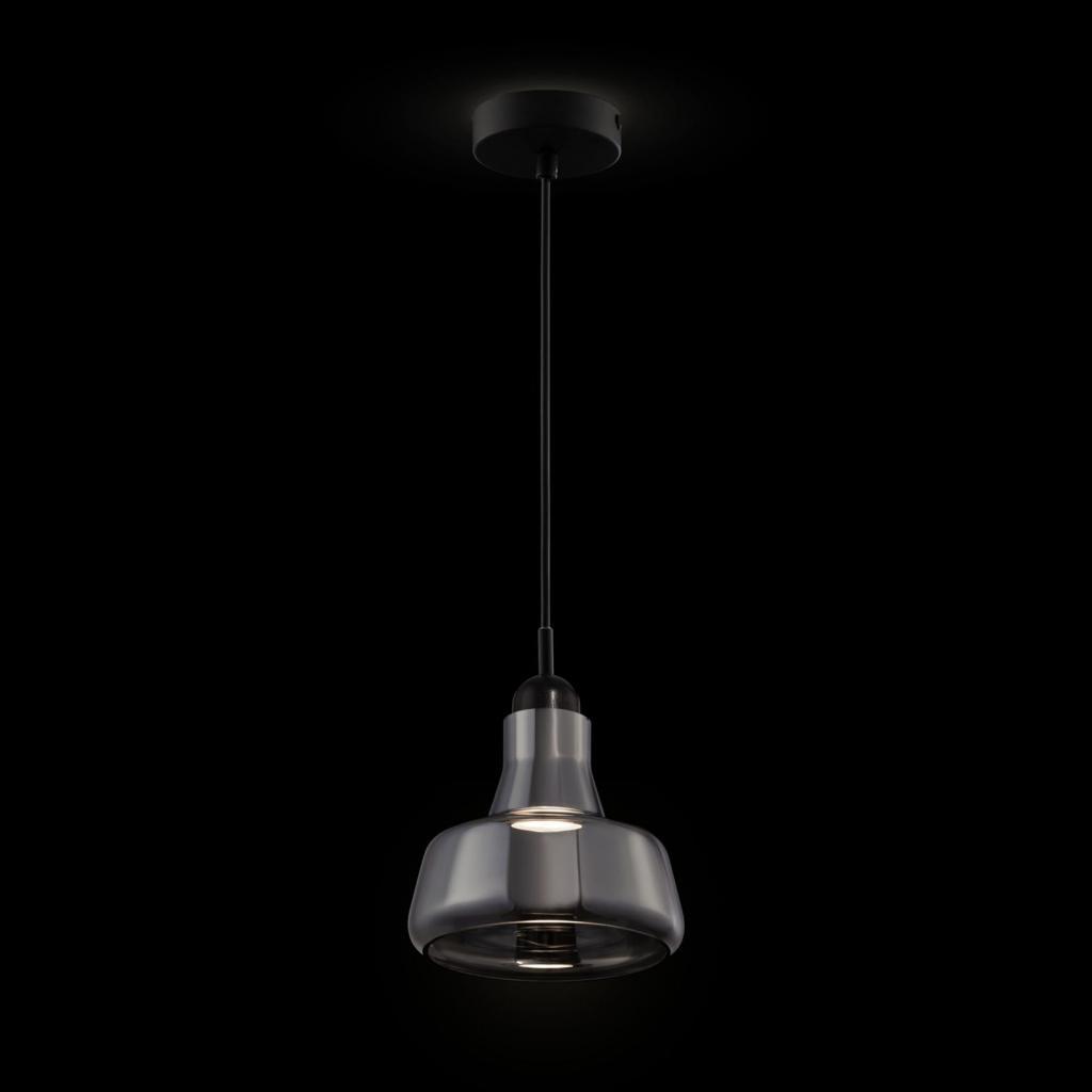 Produktové foto Maytoni Závěsné světlo Ola skleněné stínidlo Ø 15cm, šedá