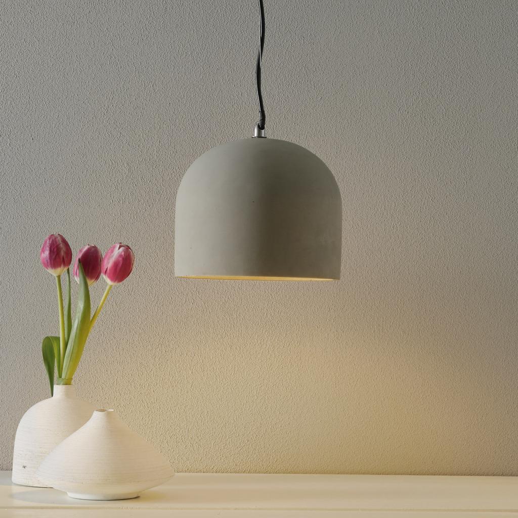 Produktové foto Maytoni Závěsné světlo Broni z betonu, Ø 20 cm