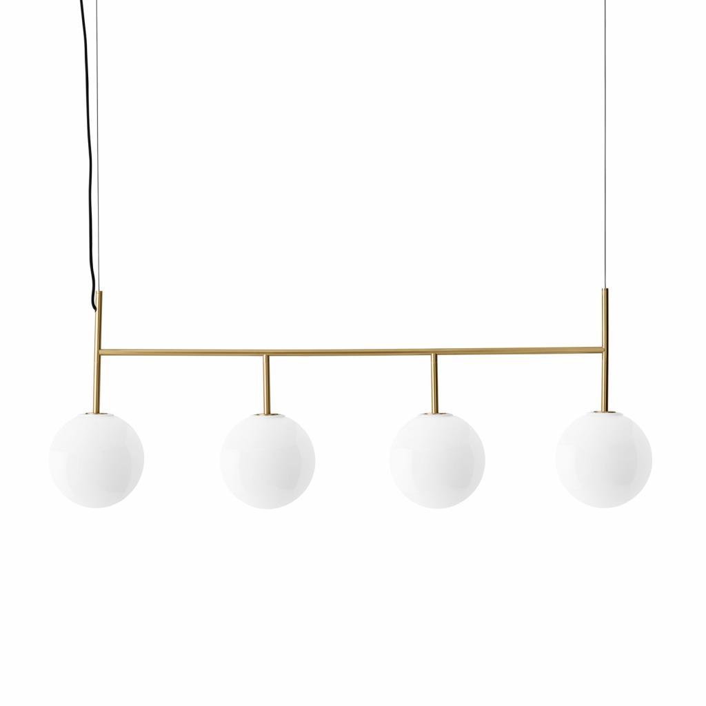 Produktové foto MENU Menu TR Bulb LED závěs 4zdroje mosaz/opál lesklá