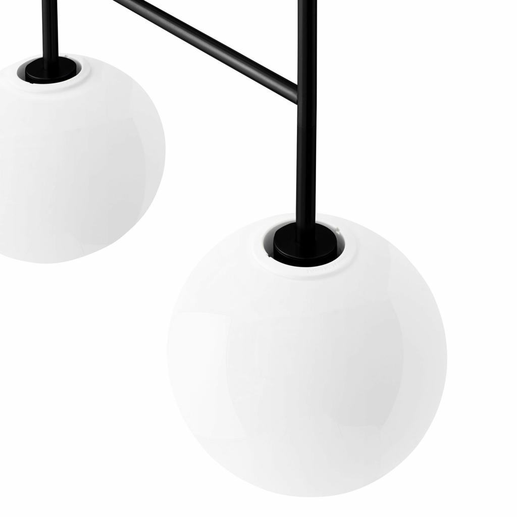 Produktové foto MENU Menu TR Bulb DTW LED závěs 4zdroje černá/opál lesk