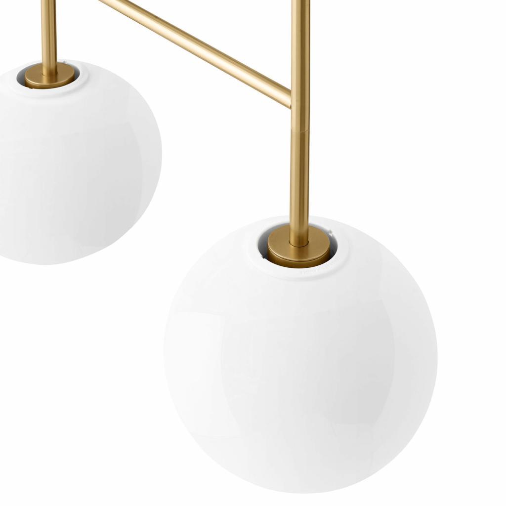 Produktové foto MENU Menu TR Bulb DTW LED závěs 4zdroje mosaz/opál lesk