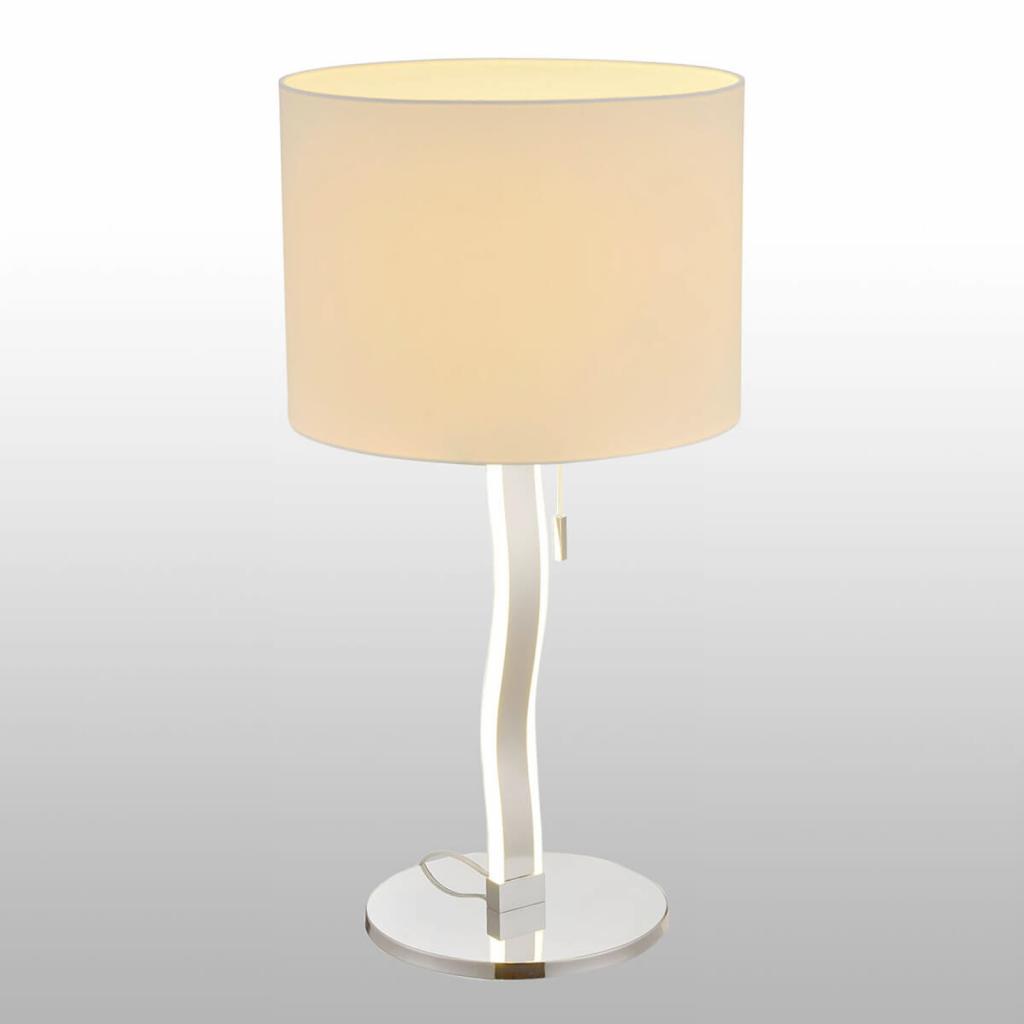 Produktové foto Näve Maren - textilní stolní lampa s LED v základně