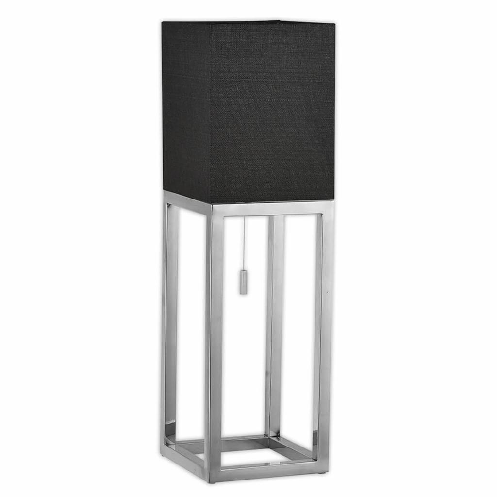 Produktové foto Näve Hranatá stolní lampa Mira s textilním stínidlem