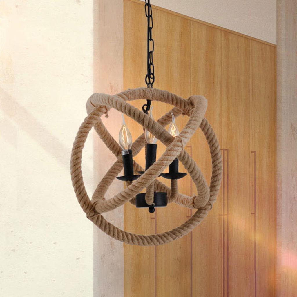 Produktové foto Näve Kulaté závěsné světlo Regia z přírodního provazu