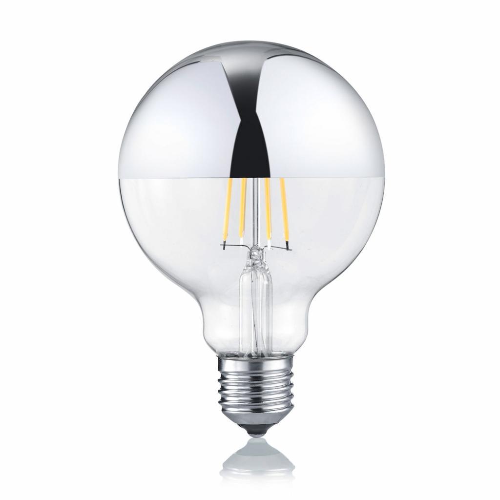 Produktové foto Trio Lighting LED žárovka globe E27 7W 2700K zrcadlená hlava
