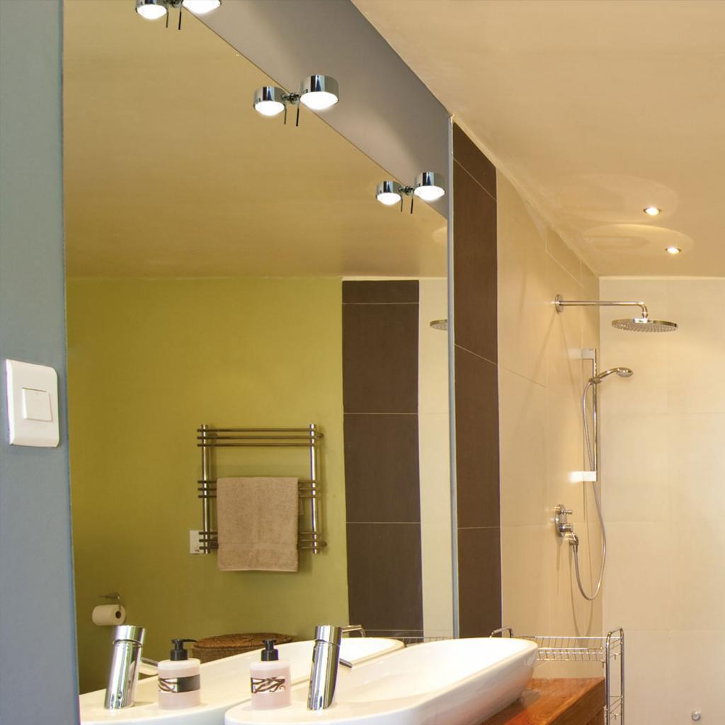 Produktové foto Top Light LED světlo se svorkou zrcadlo Puk Fix+ chrom