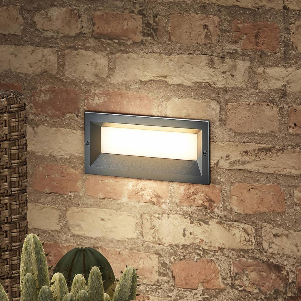 Produktové foto Lucande Lucande Lachlain nástěnné vestavné světlo venkovní