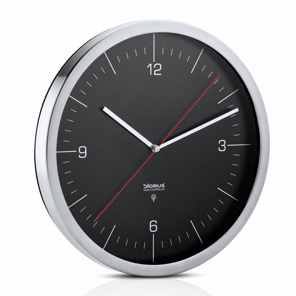 Produktové foto Nástěnné hodiny CRONO černé O 30,5 cm Blomus