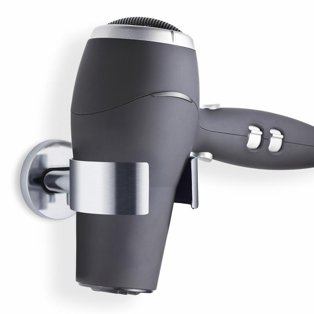 Produktové foto Nástěnný držák na fén AREO matný nerez Blomus