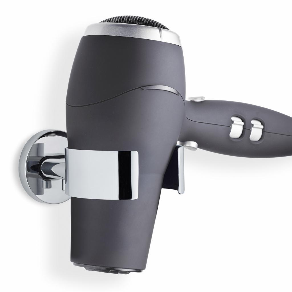 Produktové foto Nástěnný držák na fén AREOleštěný nerez Blomus