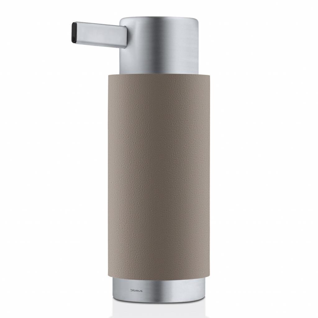 Produktové foto Dávkovač tekutého mýdla ARA matný nerez/šedohnědá Blomus