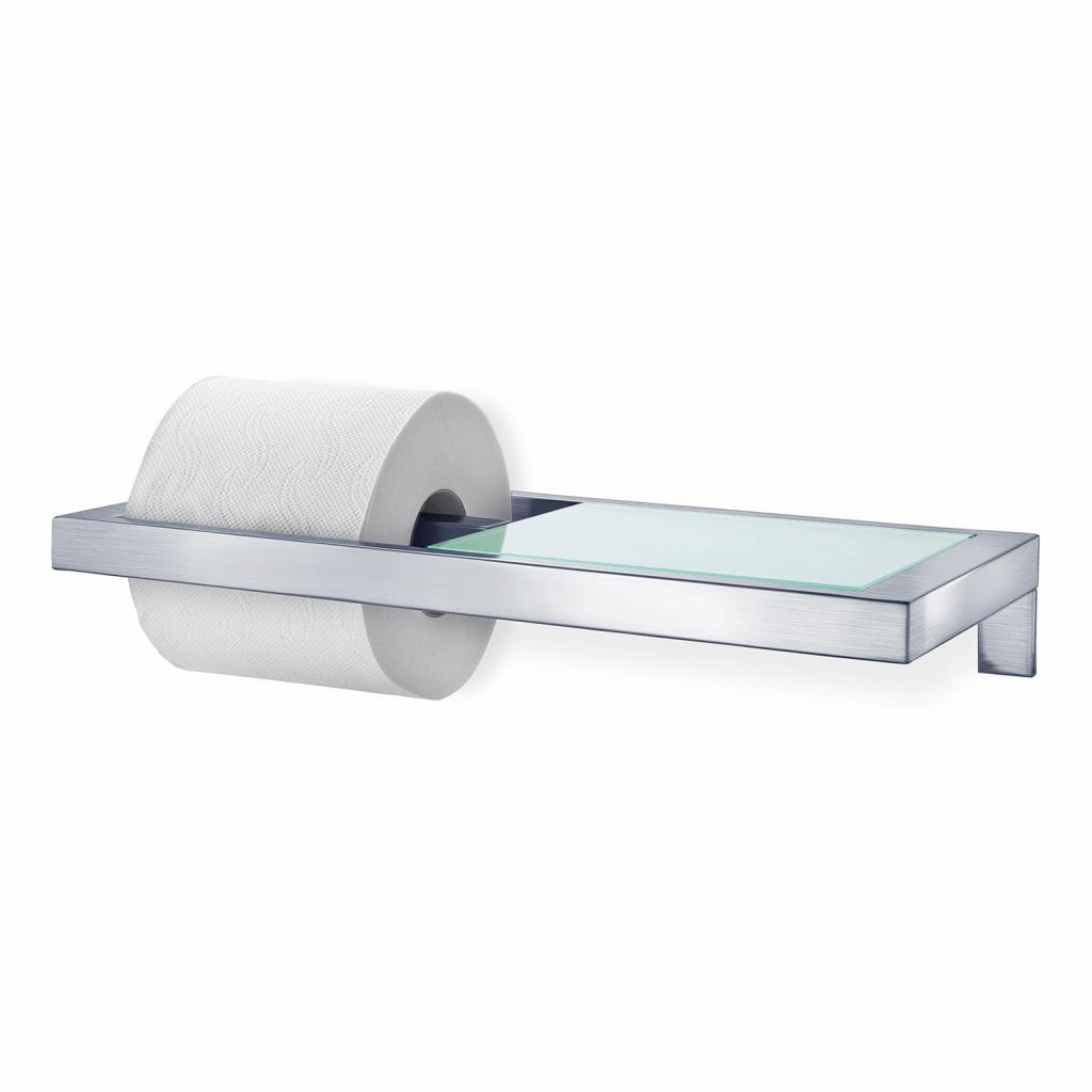 Produktové foto Držák na toaletní papír MENOTO matný nerez/sklo Blomus