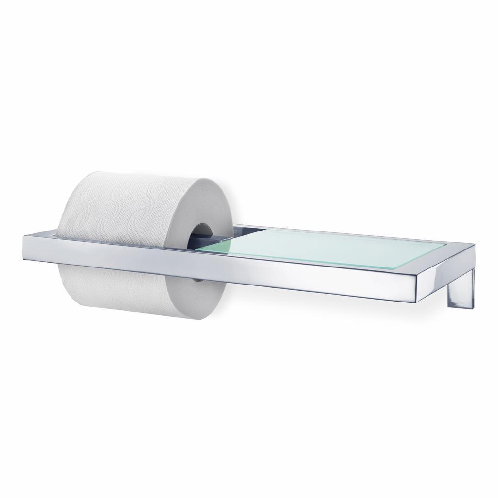 Produktové foto Držák na toaletní papír MENOTO leštěný nerez/sklo Blomus
