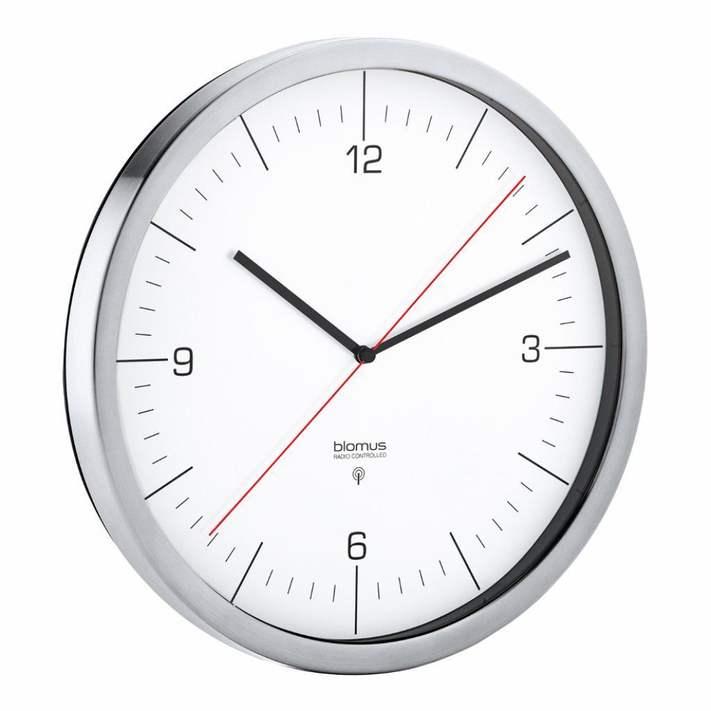 Produktové foto Nástěnné hodiny rádiově řízené RONO bílé O 24 cm Blomus