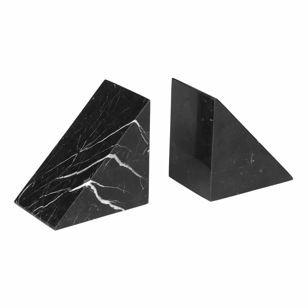 Produktové foto Knižní zarážky mramorové 2 kusy PESA černé Blomus