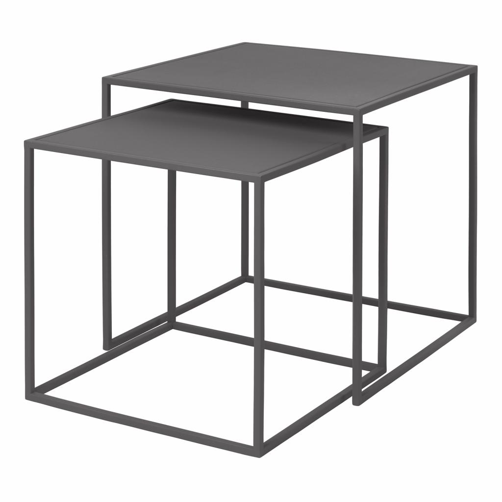 Produktové foto Set 2 ks konferenčních stolků FERA šedý Blomus