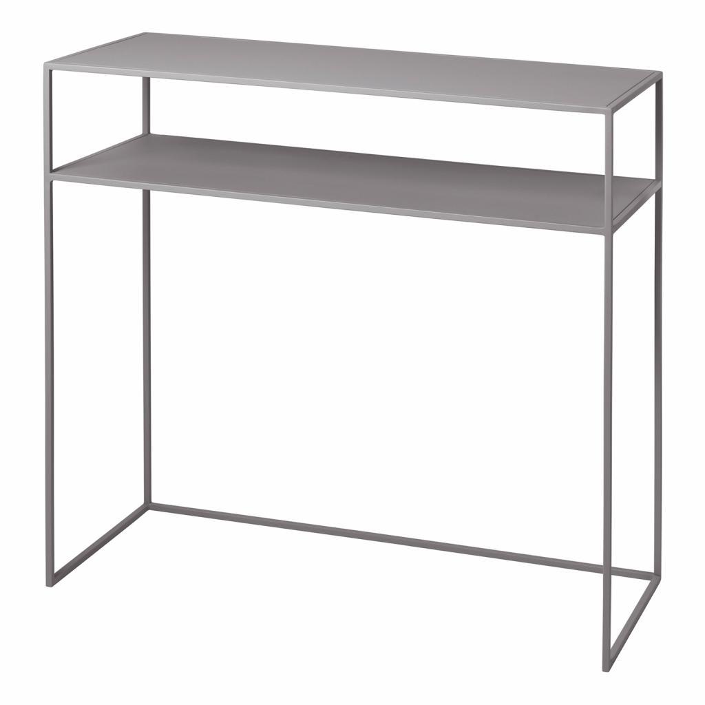 Produktové foto Konzolový odkládací stolek s poličkou FERA světle šedý Blomus