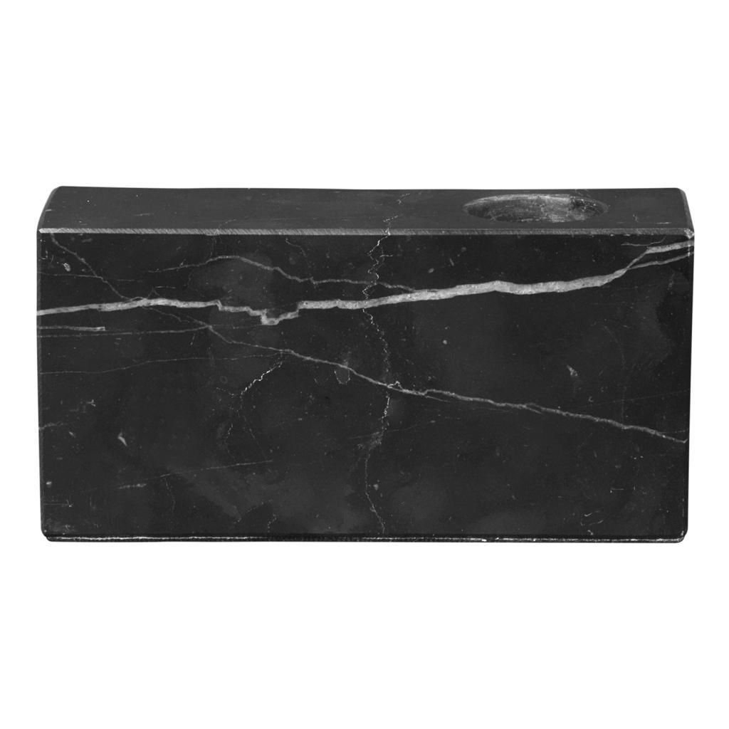 Produktové foto Svícen mramorový BLOC černý Blomus