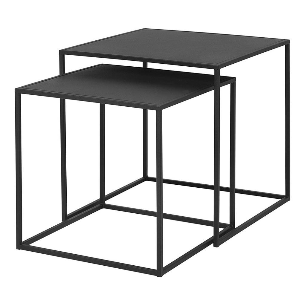 Produktové foto Set 2 ks konferenčních stolků FERA černý Blomus